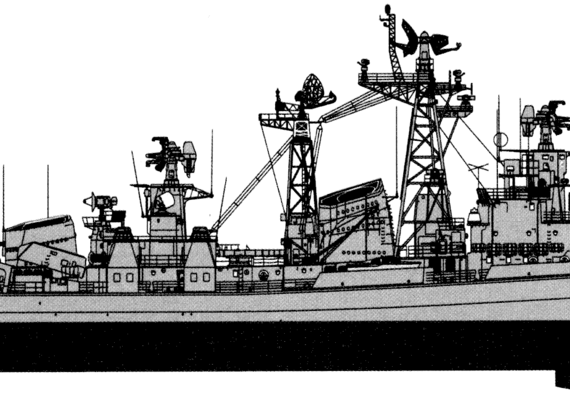 Эсминец ссср project 61m sderzhanny modified kashin-class destroyer - чертежи, габариты, рисунки